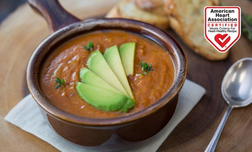 Creamy Avocado Tomato Soup