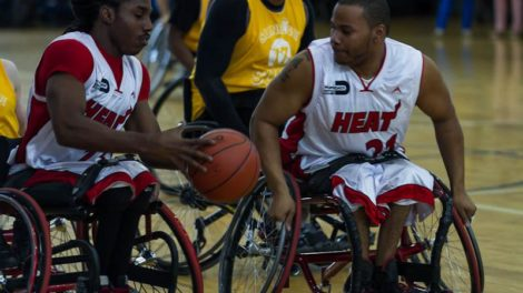 Miami HEAT Wheels players 470x264 - Paralympic Experience coming to Tropical Park, March 9