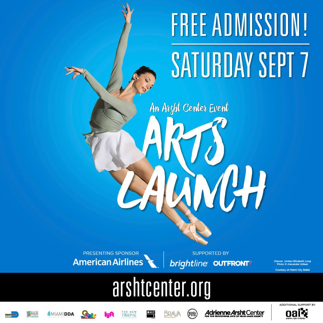 ArtsLaunch CV Partner 1080x1080 v3 - El Centro Arsht Presenta ArtsLaunch2019