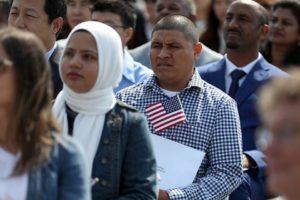 Multitud de inmigrantes