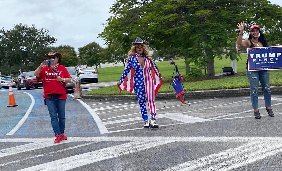 trump supporters miami - The mother of all Trump caravans and its importance