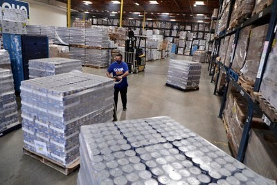 warehouse - Goya Gives is back in action during Hurricane Laura