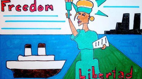 Freedom Libertad drawing