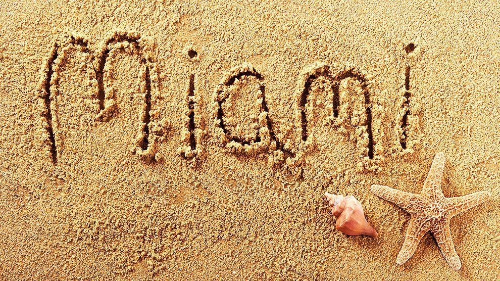miami written in sand 990x556 - Things You Can Do at Miami Beach