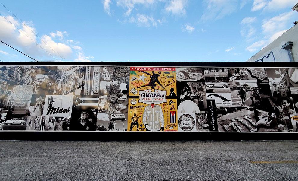 little havana wall full - El Muro de la Pequeña Habana representa comunidad