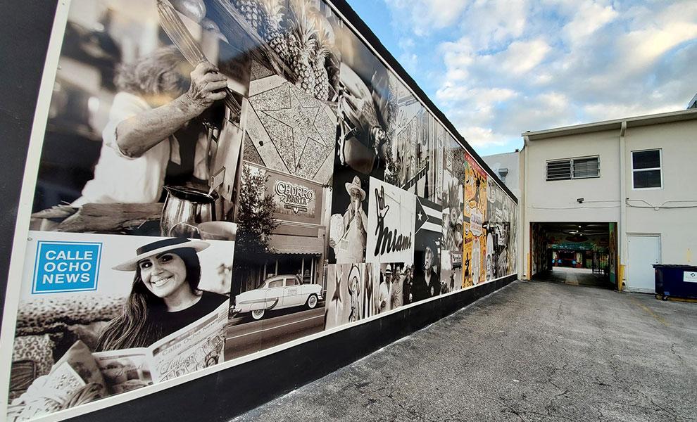 little havana wall left - El Muro de la Pequeña Habana representa comunidad