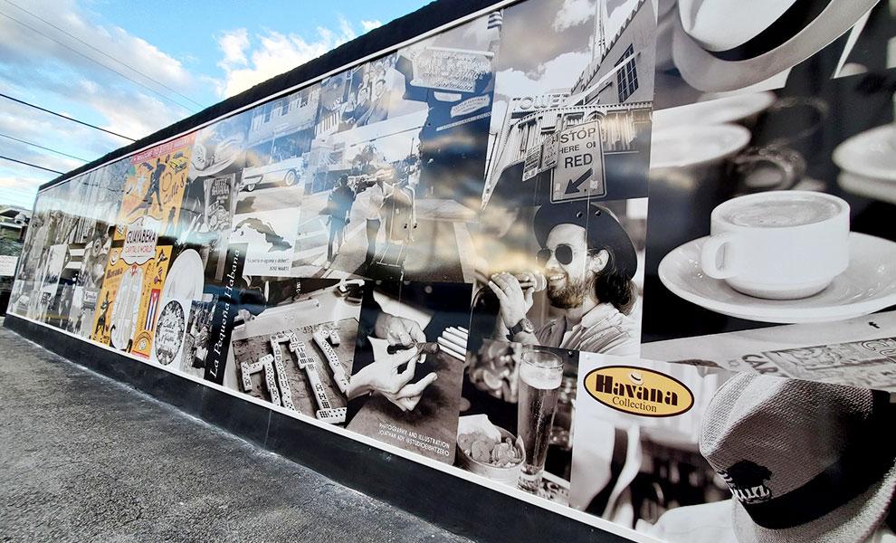 "little havana wall - The beautiful ""Little Havana Wall"" represents the community"