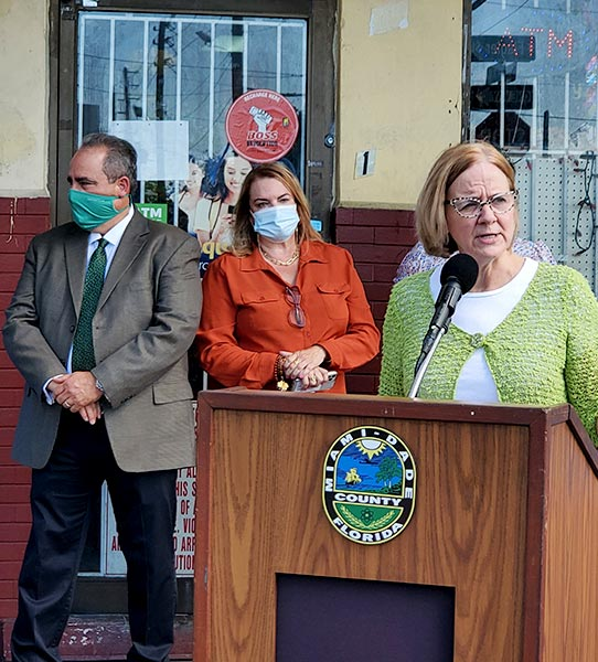 miami county - Commissioner Higgins help small business owners