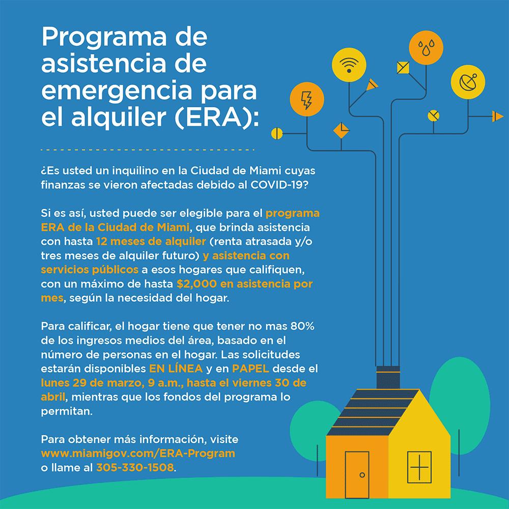 era flyer spanish - Programa de Asistencia para Alquiler de Emergencia
