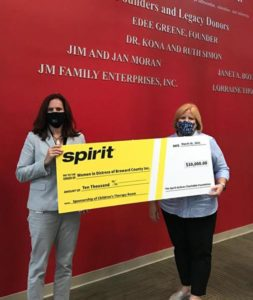 spirit airlines donation check 253x300 - Spirit Airlines ayuda a la comunidad