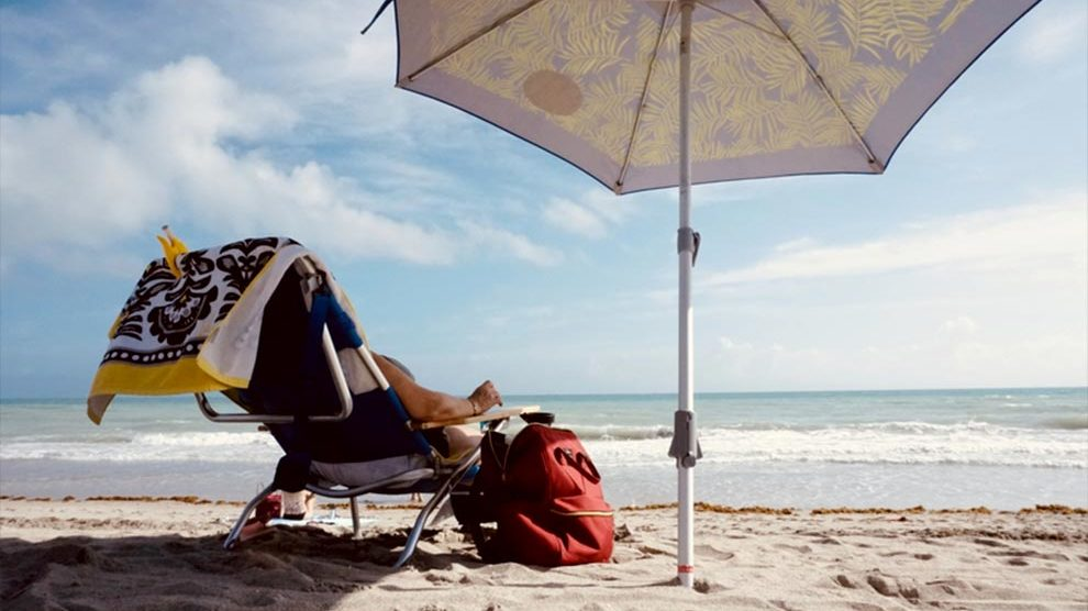 At the beach in Miami