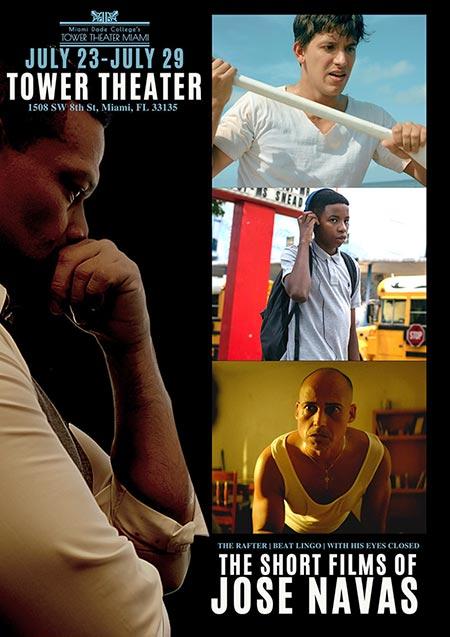 """trio of films 1 - Tower Theatre presenta el """"Trío de películas de Jose Navas"""""""